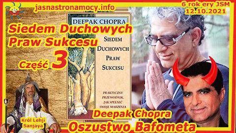 Siedem Duchowych Praw Sukcesu Deepak Chopra Oszustwo Bafometa część 3