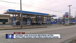 Detroit gas station back open After 45-day closure for drug activity