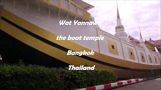 Wat Yannawa the boat temple in Bangkok, Thailand