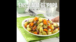 Potato Salad with Bacon and Vegetables