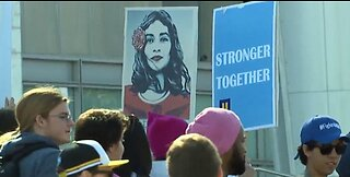 4th annual Empowering Women's March takes place in downtown Las Vegas