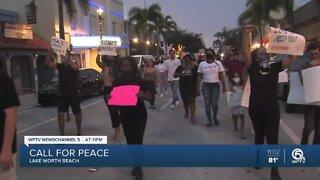 Vigil for George Floyd held in Lake Worth Beach
