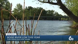 Boise River flows low right now