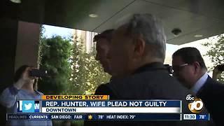 Rep. Hunter, wife plead not guilty