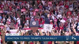 Reaction to President Trump's rally in Tulsa
