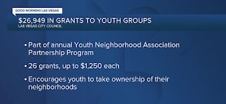 Las Vegas City Council gives $27k in grants to youth groups
