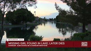 Missing girl dies after found in Chandler lake