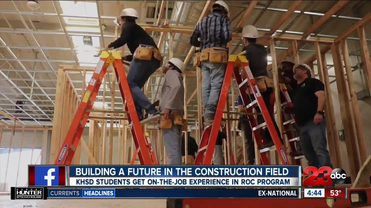 Students building a future in the construction field