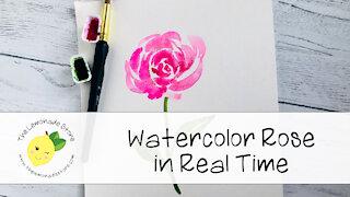 Pink Watercolor Rose Painting - The Lemonade Store