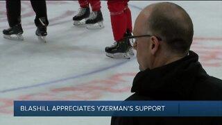 Jeff Blashill says he appreciates Steve Yzerman's support