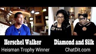 Diamond and Silk talks to Herschel Walker