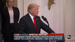 President Trump addresses suspicious packages sent to former Presidents, CNN