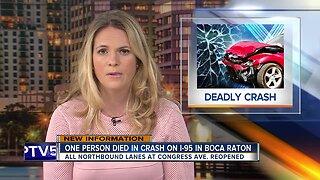 Teen killed in early morning crash on I-95 in Boca Raton