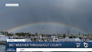 Slow-moving storm brings off-and-on rain throughout San Diego County
