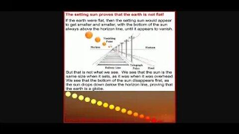 The Setting Sun Doesn't Prove Globe Earth