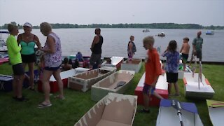Village of Grass Lake hosts 12th annual cardboard boat race
