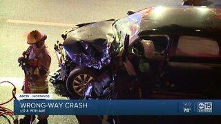 Police investigating wrong-way crash on I-17 near Buckeye Road