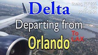 [Rare] Delta Boeing 757-200 taking off from Orlando #DL1843