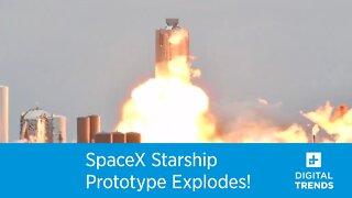 SpaceX Starship prototype explodes during test