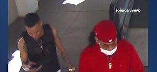 Vegas PD: 2 men shoot at vehicle near Strip; detectives release photos