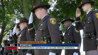 Rememberance ceremony at Fallen Heroes Memorial