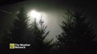 Sheets of rain pour down in Nova Scotia