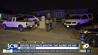 Man sent to hospital after being shot in Lemon Grove