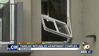 Families return to apartment complex