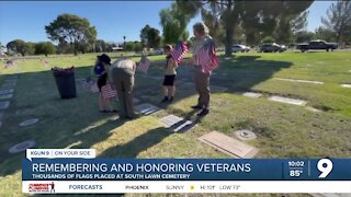 Thousands of flags planted to honor veterans ahead of Memorial Day