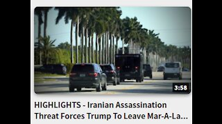 HIGHLIGHTS - Iranian Assassination- Threat Forces Trump To Leave Mar-A-Lago Early