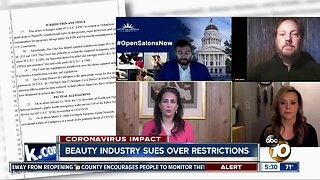California salons file lawsuit over restrictions