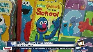Children receive free books