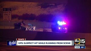 Wrong way driver hit while running from scene