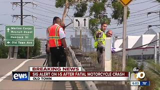 Deadly motorcycle crash on I-5