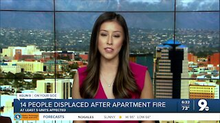 14 people displaced after apartment fire in midtown