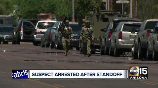 Suspect arrested after standoff in Phoenix