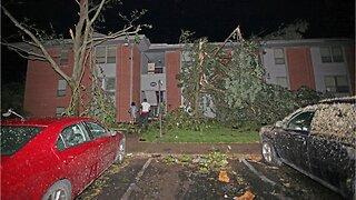 Tornado hits Dayton, more storms predicted