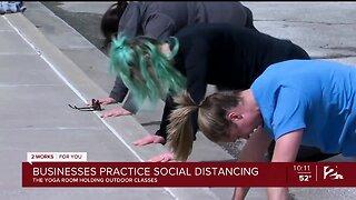 Businesses Practice Social Distancing