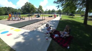 Kids in Park Getting Sunlight to Avoid Covid 19