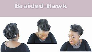 Braid-Hawk easy protective style