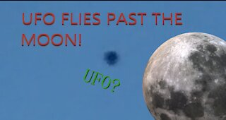 UFO flies past the moon! Seen from Spring Valley, Nevada...
