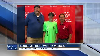 Local Special Olympics athletes wins 2 medals