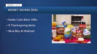 Ibotta app offering 9 Thanksgiving items free at Walmart