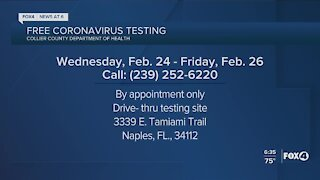 Collier County offering free COVID testing this week