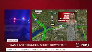 Car crashes through bridge barrier, shuts down SR-31