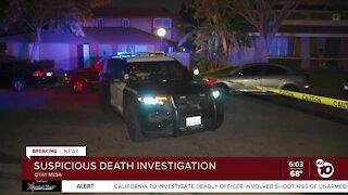 Suspicious death in Otay Mesa under investigation