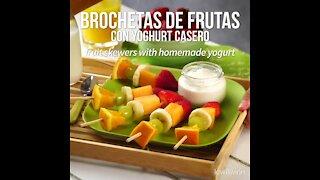 Fruit Kebabs with Homemade Yoghurt