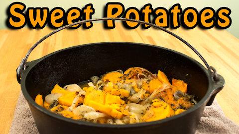Dutch Oven Sweet Potatoes and Onions