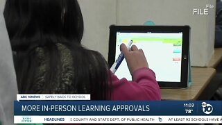 More in-person learning approvals