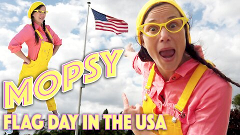 Mopsy Learns about Flag Day in the USA